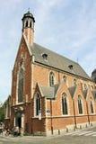 圣徒马德琳教堂在布鲁塞尔,比利时 库存照片
