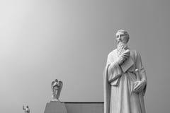 圣徒负担纸卷和剑的基督的茱迪传道者 免版税库存图片