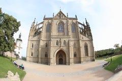 圣徒巴巴拉大教堂 库存照片