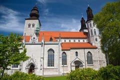 圣徒维斯比玛丽亚大教堂在海岛哥得兰岛,瑞典上的 免版税图库摄影