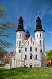 圣徒维斯比玛丽亚大教堂在海岛哥得兰岛,瑞典上的 库存图片