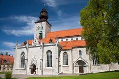 圣徒维斯比玛丽亚大教堂在海岛哥得兰岛,瑞典上的 库存照片