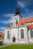 圣徒维斯比玛丽亚大教堂在海岛哥得兰岛,瑞典上的 免版税库存图片