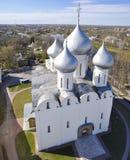 圣徒索菲娅大教堂在沃洛格达州 免版税图库摄影