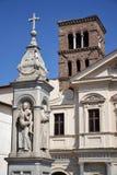 圣徒Bartolomew大教堂在罗马 免版税库存照片