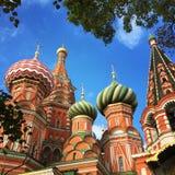 圣徒Basil& x27; s大教堂Moskou红场 库存图片
