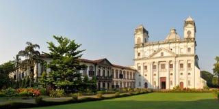 圣徒Cajetan教会在果阿旧城,印度 免版税库存图片