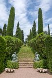 圣徒Clotilde庭院Jardines de圣诞老人Clotilde, Lloret Del Mar,西班牙 图库摄影