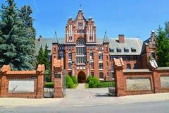 圣徒Ekaterina -修道院雷日纳Koeli的姐妹会议的省房子1904-1906 布拉涅沃,波兰 免版税库存照片