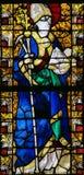 圣徒Eligius -彩色玻璃在鲁昂 库存照片