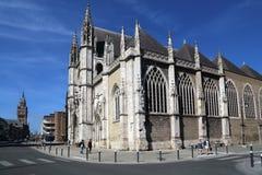 圣徒Eloi教会在敦刻尔克,法国 库存照片
