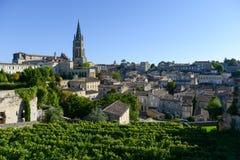 圣徒Emilion葡萄园风景法国, 库存图片