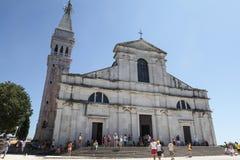 圣徒Euphenia的大教堂,罗维尼 免版税库存照片