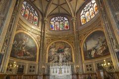 圣徒Eustache教会,巴黎,法国内部  免版税库存图片
