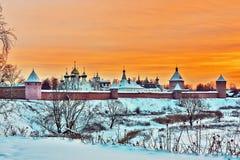 圣徒Euthymius, Suzdal,俄国修道院  图库摄影