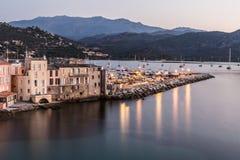 圣徒Florent在可西嘉岛 免版税库存图片