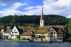 圣徒Georgen修道院在斯坦是莱茵,瑞士 库存图片