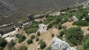 圣徒Hilarion城堡北部塞浦路斯 股票视频