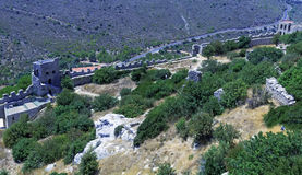 圣徒Hilarion城堡, Kyrenia,塞浦路斯 图库摄影
