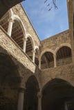 圣徒Honorat被加强的修道院,法国 库存图片
