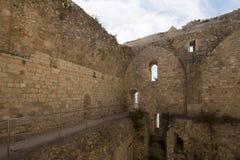 圣徒Honorat被加强的修道院,法国 库存照片
