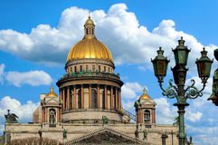 圣徒Isaac的大教堂在圣彼德堡,俄国 图库摄影