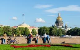 圣徒Isaac& x27; s大教堂 圣徒Peterburg 免版税图库摄影
