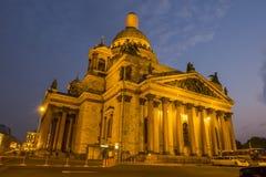 圣徒Isaac& x27; 微明的s大教堂 库存图片