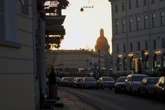 圣徒isaacs大教堂在圣彼德堡,俄罗斯 库存照片