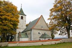 圣徒Jakub教会在Krec,捷克共和国 免版税库存图片