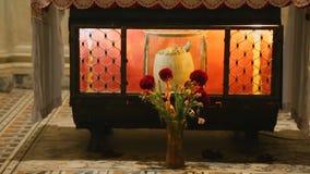 圣徒Januarius遗物在那不勒斯大教堂的土窖,灵性,信念 影视素材