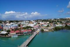 圣徒JohnÂ的-安提瓜岛 免版税库存图片