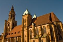 圣徒Kilian教会在Heilbronn,德国 免版税图库摄影