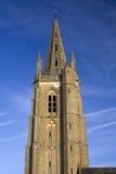 圣徒Leger教会,索科,北法国尖顶  图库摄影