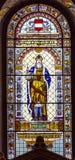 圣徒Leopoldus奥地利彩色玻璃圣徒斯蒂芬斯大教堂 免版税库存图片