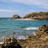 圣徒Malo海滩和海运 免版税库存图片