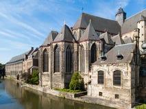 圣徒Michael's教会,绅士,比利时 免版税库存图片