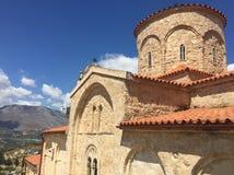 圣徒Miron在克利特,希腊海岛上的` s教会  库存照片