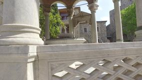 圣徒Panteleimon修道院,主要教会,圣山,希腊 影视素材