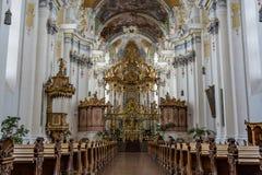 圣徒Paulinus教会的内部实验者的,德国 免版税库存照片