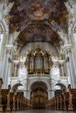 圣徒Paulinus教会的内部实验者的,德国 免版税库存图片