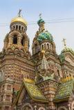 圣徒PETERBURG/RUSSIA-09 DESEMBER 2018年:救主的教会Spilled血液的,其中一St主要视域  免版税图库摄影