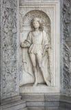 圣徒Protas,科莫,意大利新生大理石雕塑  库存照片