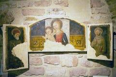 圣徒Rufino,阿西西,意大利大教堂  库存照片