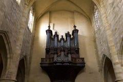 圣徒Sacerdos大教堂, Sarlat,法国 库存图片