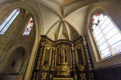 圣徒Sacerdos大教堂, Sarlat,法国 免版税库存图片