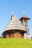 圣徒Sava教会在Kusturica,塞尔维亚Drvengrad  图库摄影