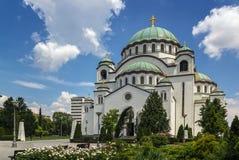 圣徒Sava,贝尔格莱德教会  库存照片