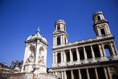 圣徒Sulpice教会 库存图片
