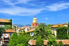 圣徒Tropez美好的横向  图库摄影